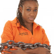 Stock Photo: Womprisoner orange chained up