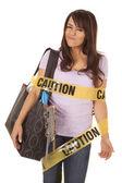 Attenzione shopper avvolti ghigno — Foto Stock
