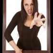 Vampire come out window reach — Stock Photo #34834943