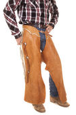 Cowboy chaps and waist — Stock Photo