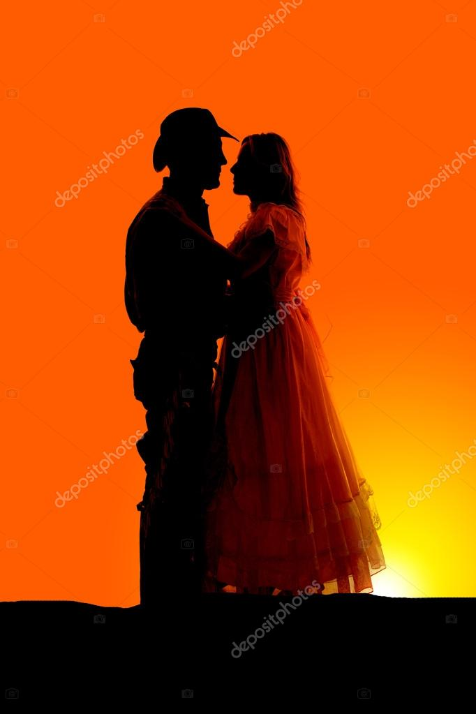 Western Couple Silhouette a Silhouette of Couple in Their Western Clothes Photo by Alanpoulson
