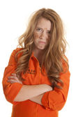 Woman inmate dirty mad — Stock Photo