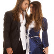 Couple in formals arm around — Stock Photo #37412667