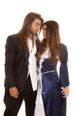 Couple in formals arm around — Stock Photo