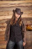Cowboy long hair duster look — Stock Photo