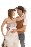 Couple western hats on both — Stock Photo