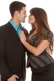 Business couple almost kissing — Stock Photo