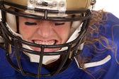 Giocatore di gioco del calcio donna — Foto Stock