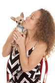 Woman small dog — Stock Photo