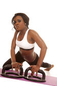 African American woman fitness — Stockfoto