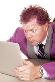 Man looking at laptop — Stock Photo