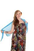 Woman colorful dress — Stock Photo