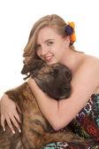 女性と犬 — ストック写真