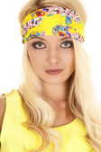Woman in yellow headband — Stock Photo