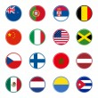 World flags icons (set one of four) — Stock Vector