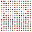 Flags of the world - rounded rectangles icons — Stock Vector #37014473