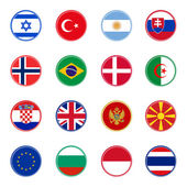 World flags icons (set four of four) — Stock Vector