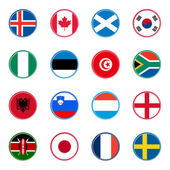 World flags icons (set three of four) — Stock Vector