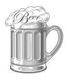 Beer in vintage engraving style — Stock Vector