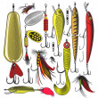 Artificial fishing lures — Stock Vector #48562257