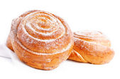 Freshly baked sweet bun with cinnamon — Stock Photo