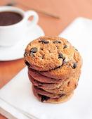 チョコレート チップ クッキーとコーヒー — ストック写真