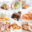 Food collection, desserts — Stock Photo