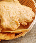 Tuile, dry almond cookie — Stock Photo