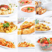 Food collection, italian cuisine — Stock Photo
