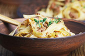Tagliatelle bolognese — Stock Photo