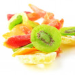 Pile of dried tropical fruits isoated - Foto Stock