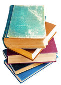 Old scratched books isolated — Stock Photo