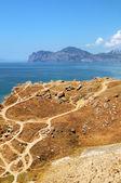 Vista panorámica de las montañas de crimea — Foto de Stock