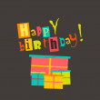 Happy birthday greeting card — Stockvektor #37049993