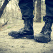 Stock Photo: Black boots