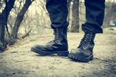 Black boots — Stock Photo