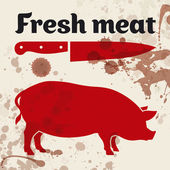 Fresh meat — Stock Vector