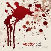 Splattered blood stains, set 2 — Stock Vector