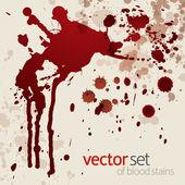Splattered blood stains, set 2 — Stock Vector