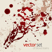 Splattered blood stains, set 1 — Stock Vector