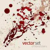 Splattered blood stains, set 1 — Stock Vector
