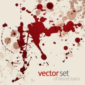 Splattered blood stains, set 4 — Stock Vector
