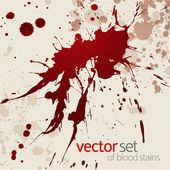 Splattered blood stains, set 7 — Stock Vector