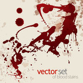 Splattered blood stains, set 6 — Stock Vector