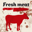 Fresh meat, beef — Stock Vector #12089124