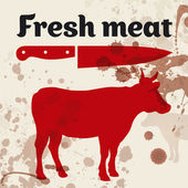 Fresh meat, beef — Stock Vector