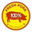 Fresh pork label — Stock Vector