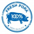 Pork stamp — Stock Vector