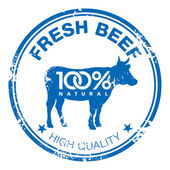 Beef stamp — Vector de stock