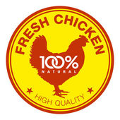 Fresh chicken label — Stock Vector